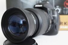 2x Tele Zoom Lens For Nikon d3300 d5300 d5200 d3100 d3200 d60 d40x w/18-55 vr