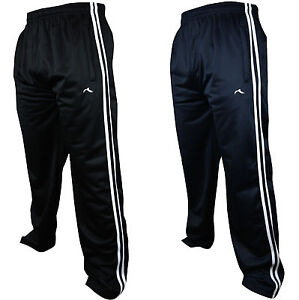 558bdef50fad New Mens Tracksuit Bottoms Striped Silky Casual Gym Jogging Joggers ...