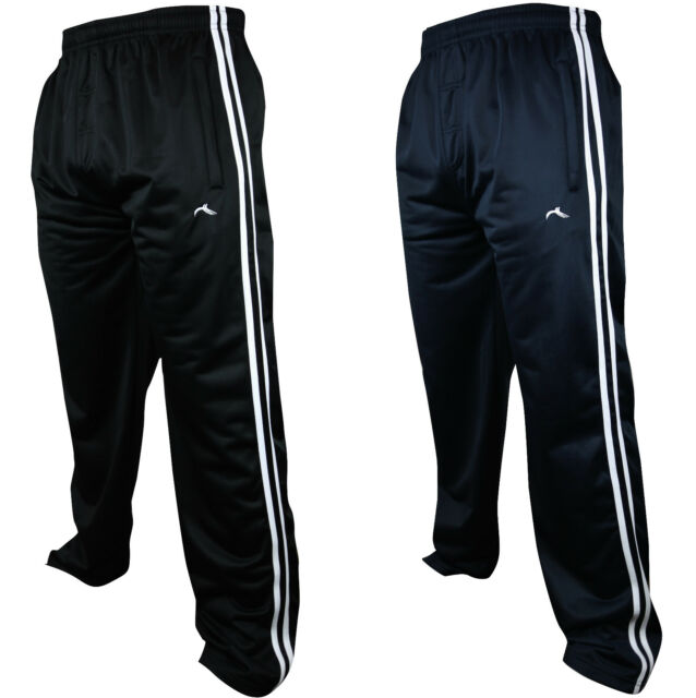 new collection quite nice discount shop New Mens Tracksuit Bottoms Striped Silky Casual Gym Jogging Joggers Sweat  Pants