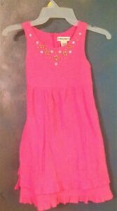 Hot-Pink-layer-dress-Beaded-6-6x-Party-Ruffle-Fushia-Magenta-girls-school-jumper