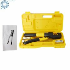 Hydraulic Wire Crimper With 10 Ton 8 Dies Battery Cable Lug Terminal Crimping Tool
