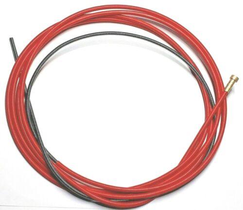 Drahtspirale Drahtseele Führungsspirale 3-5 Meter 0,6-1,6 MIG//MAG Rot//Blau//Blank