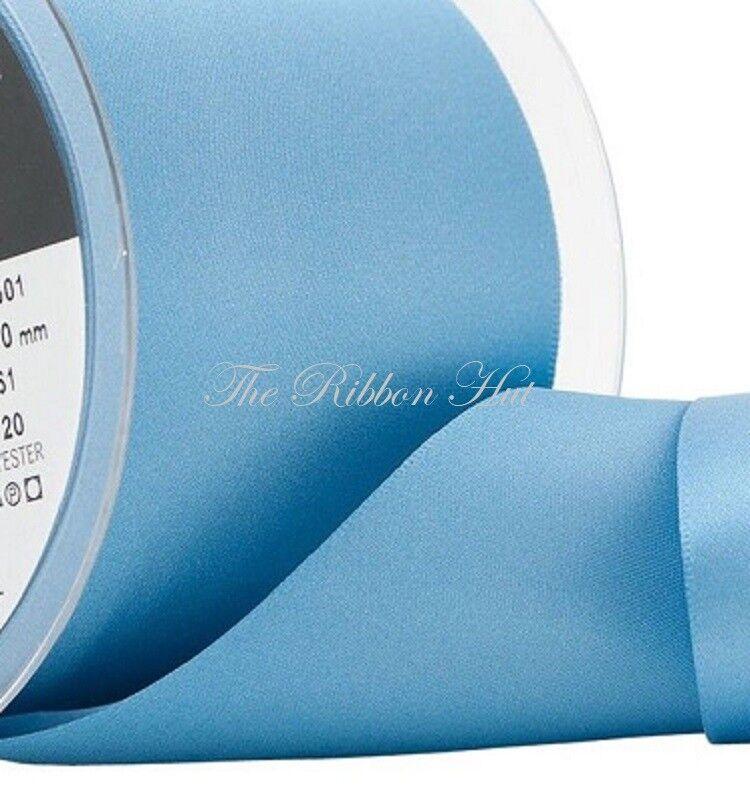 Double Satin Ribbon-Berisfords-NARROW BLUES-3//7//10//15//25mm Wide-2M//4M//5M Lengths