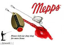 Mepps lusox size 0 gold  3g + 4 grams leadhead Pike spinner