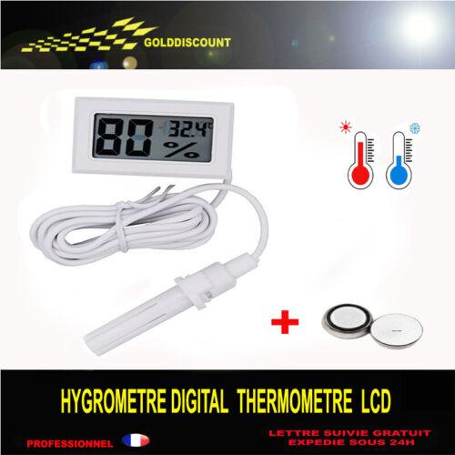 pile incluse thermometre  hygrometre digital lcd