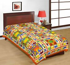 Bombay Spreads Multi Color 100% Pure Jaipuri Cotton Single Bed Sheet-UCESB21