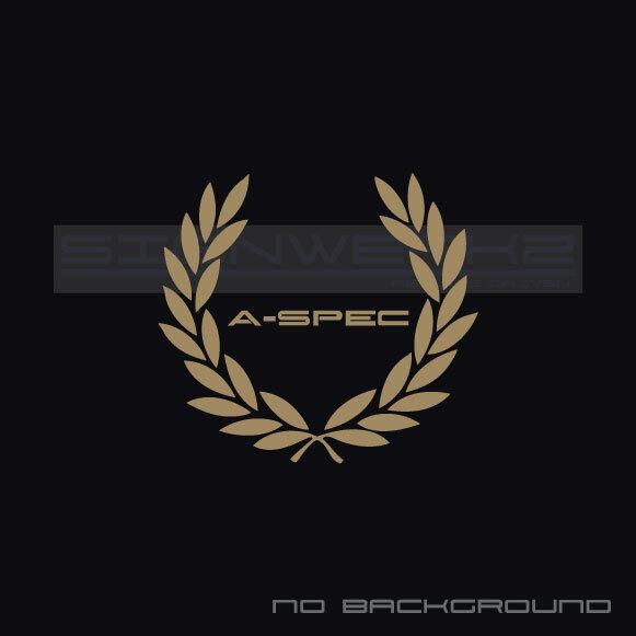 Aspec Racing Wreath Decal Sticker Type S Vtec Tlx Rl Rdx