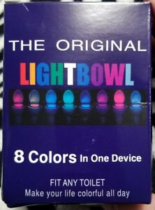 LED 8 COLOR TOILET BOWL LIGHT, ONE SIZE, MOTION ACTIVATED