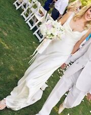 """Jenny Packham """"The Ultimate Dress"""" Cowl Neck Silk Wedding Gown UK 12 Exclnt Cond"""