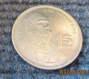 1984 Mexico Jose Morelos 1 Peso And 1985 10 Peso Ebay