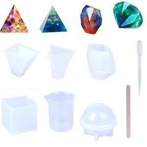 18PCS-Resin-Silicone-Mold-Making-Jewelry-Pendant-Casting-Mould-DIY-Craft-To-X
