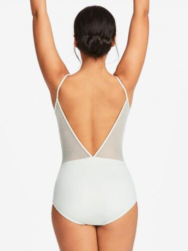 NEW CAPEZIO  lace back camisole leotard 11279W Saltwater Green Ladies sizes