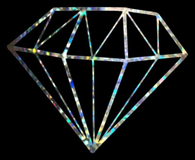 Diamond Glitter Holographic Vinyl Car Window Decal Sticker New 16-05