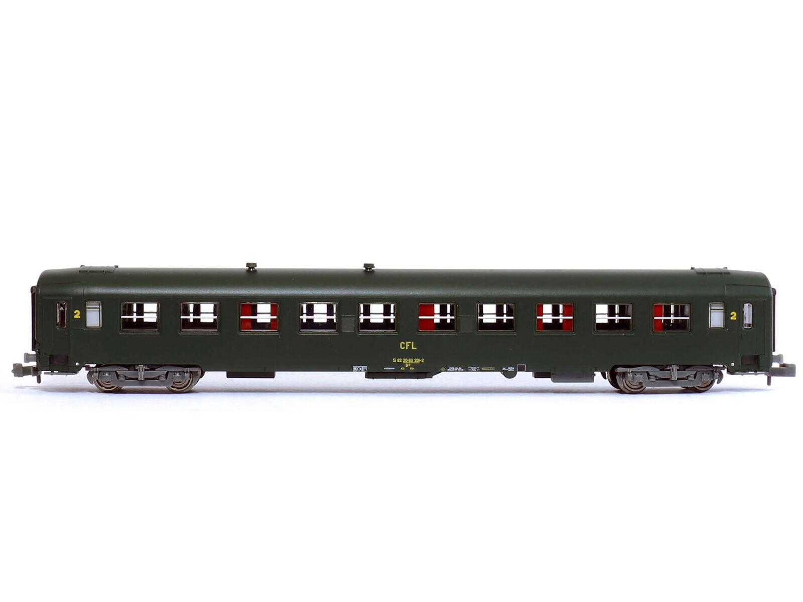 REE NW-154 - Personenwagen Schnellzugwagen UIC CFL Epoche IV - Spur N - NEU