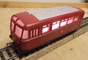 Marklin-H0-4018-Side-Car-pour-Autorail-avec-Oberlichtfenstern-Illumine-Bon