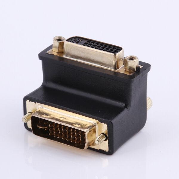 DVI 24+5 Male to DVI 24+5 Female 90° degree right angled VIDEO Converter Adapter