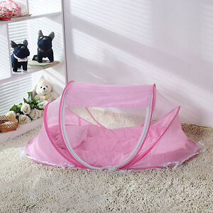 Foldable-Baby-Crib-Infant-Bed-Mosquito-Net-Cotton-padded-Mattress-Pillow-Tent-AA
