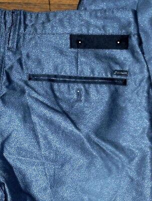Importato Dall'Estero Originale G Da Guess Slim Gamba Affusolata Uomo Lucente Grigio Pantaloni Jeans Prima Qualità