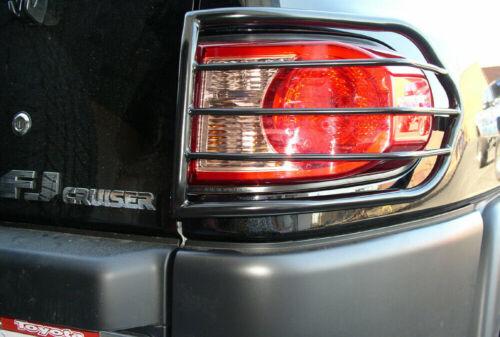 Black Horse Tail Light Guards Fits 2007-2013 Toyota FJ Cruiser  Steel