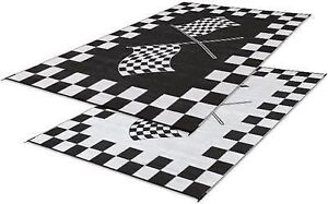 Image Is Loading Rv Patio Mat Awning Racing Checkered
