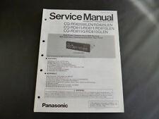 Original Service Manual Panasonic CQ-RD825WLEN RD825LEN CQ-RD815 RD811 RD810LED