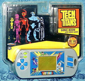 Vintage-Teen-Titans-Sonic-Boom-LCD-Video-Game-Handheld-Electronic-New-Sealed