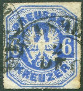 AD-Preussen-Nr-25-gestempelt-6-Kreuzer-1867-Michel-55-00-used