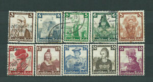 Alemania-Empire-Mail-1935-Yvert-547-56-or-Regional-Costumes