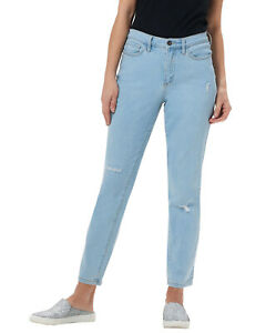 Studio-by-Denim-amp-Co-Womens-Classic-Denim-Ankle-Jeans-Reg-6-Bleach-A304472