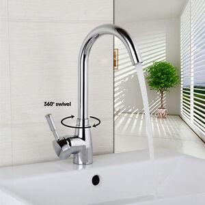 Bathroom Faucet Chrome Toilet Sink Mixer Basin Tap Single Handle Deck Mounted
