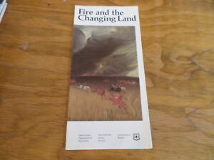 Fire-and-the-Changing-Land-Vintage-Pamphlet-by-USDA-Circa-1987