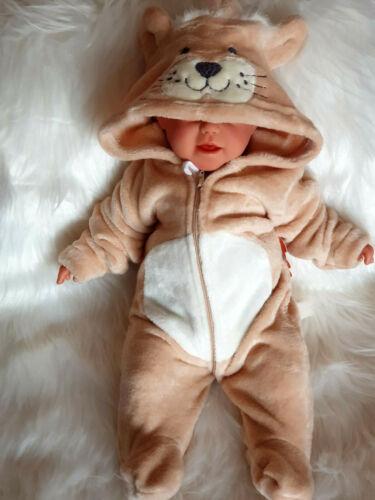 """♥ Baby Plüsch Einteiler Strampler Overall /"""" Leo/"""" Gr.3-6M,6-12 M♥"""