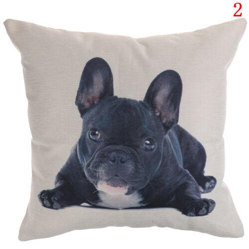 French bulldog pattern cotton linen throw pillow case cushion cover home decor T