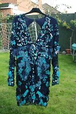 ASOS Revive Blue Turquoise Sequin dress UK SIZE 8