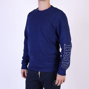 Diesel-Herren-UMLT-Willy-Blau-loungewear-sweatshirt-S-Small
