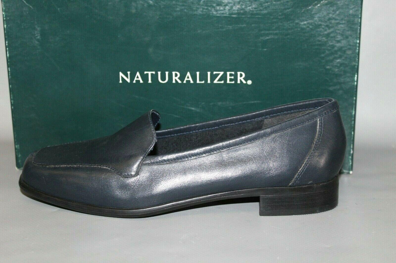Nouveau Femme Naturalizer Stockard bleu marine en cuir Casual Slip On