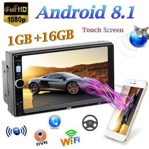 2DIN-7-034-Android-8-1-1024-600-1GB-16GB-Auto-MP5-Spieler-GPS-Navi-Radio-BT-WiFi