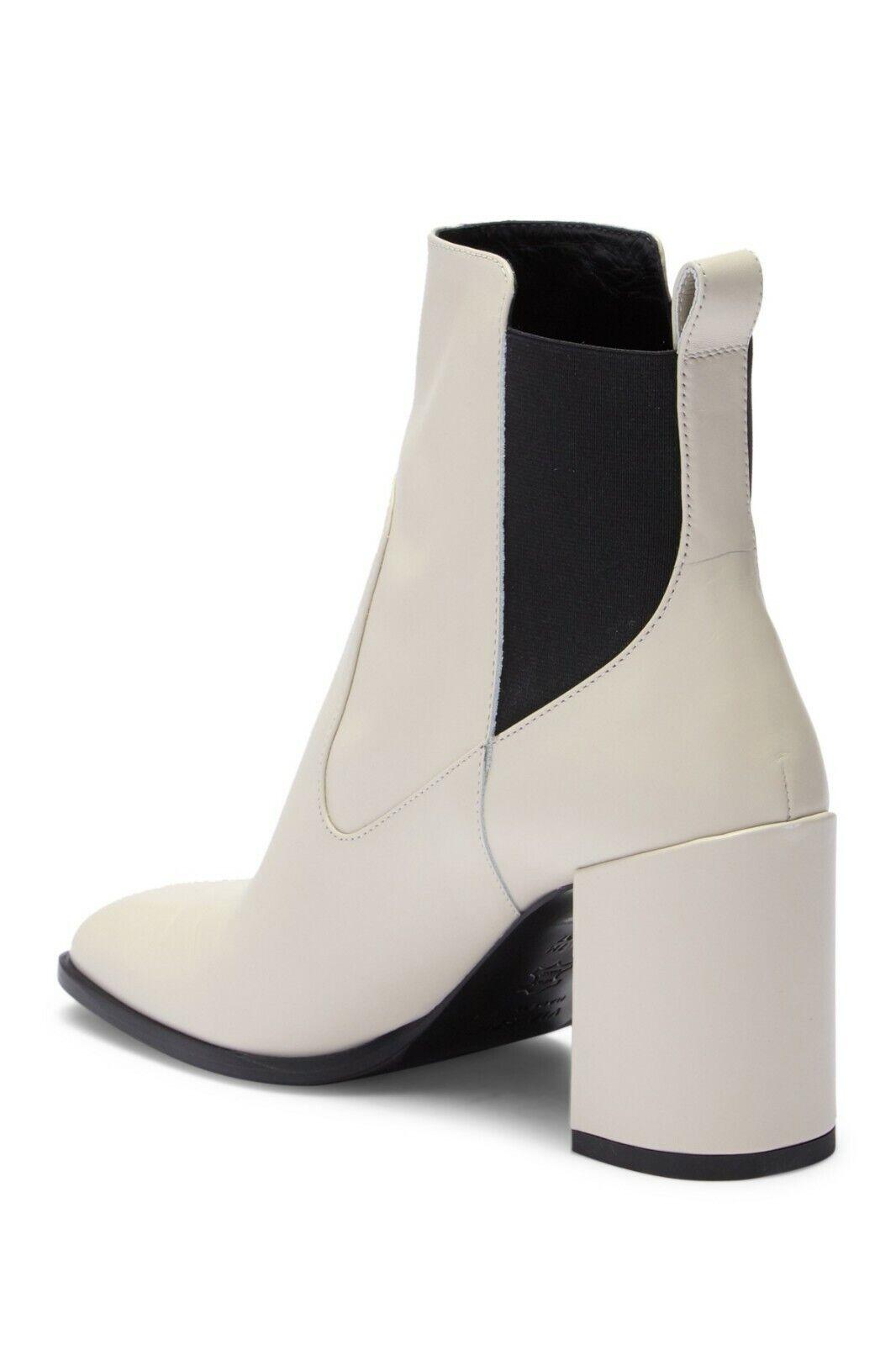 Via Spiga Delaney Leather Block Heel Heel Heel Boot, Square toe, Pull-on Size 5M  350 NWB afa102