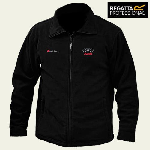 AUDI SPORT Regatta zipper Fleece Jacket Embroidered Logo Winter Warmer Unisex