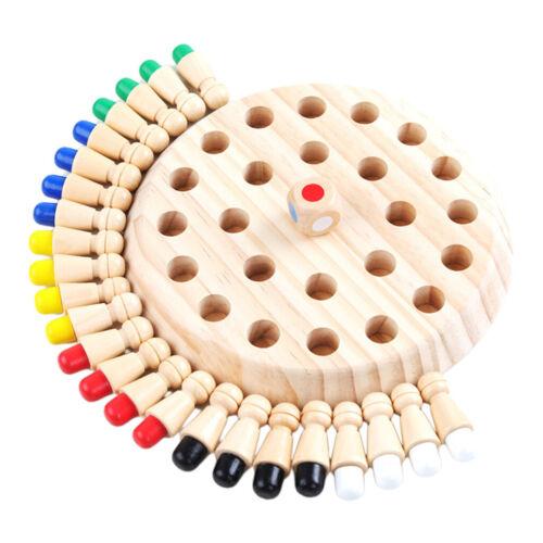 Kinder Holz Memory Match Stick Schachspiel Lernspielzeug Eltern-Kind-Interaktion