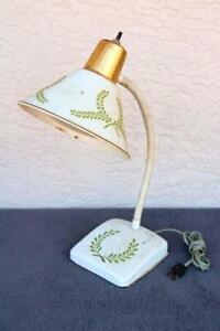 Lamp-Desk-Tole-Tole-Diffuser-White-Desk-Retro-Vintage-Old-Estate-Light