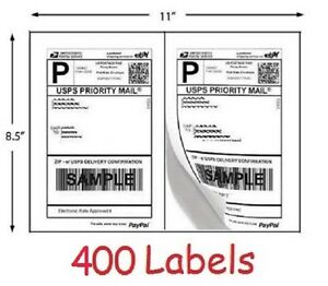 400 shipping labels for printing usps ups ebay postage for How to send a shipping label to someone