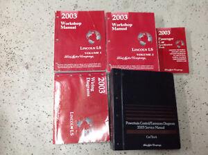 2003-Lincoln-Ls-Servicio-Tienda-Reparacion-Taller-Manual-Juego-OEM-con-Ewd-amp