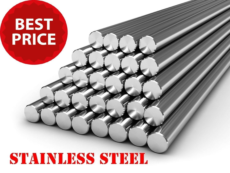 STAINLESS STEEL Round Bar Steel Rod - GRADE 304 - Various Size - 1 meter LONG !!
