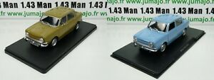 LOT-2-Voitures-1-24-SALVAT-LEO-models-SIMCA-1000