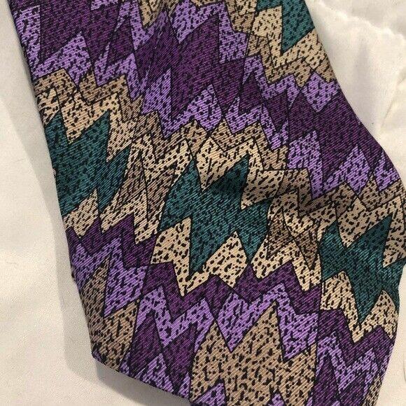 Missoni Vintage Cravatte Silk Tie Abstract 80s or… - image 3