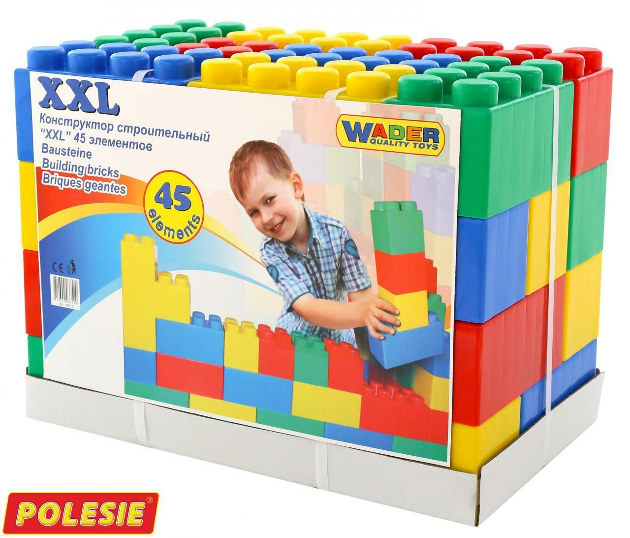 Wader Blocs De De De Construction Bloc De Construction Bloc Jeux de construction géants XXL 24 36 45 72 134 pièces NEUF 060e1b