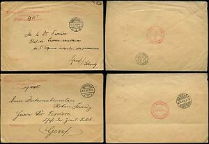 POLAND 1916 MILITARY MAIL DR FERRIERE + PoW