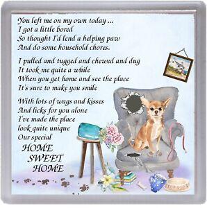 Chihuahua-Smoothcoat-Dog-Coaster-034-HOME-SWEET-HOME-Poem-034-by-Starprint