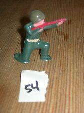 ca 1960'S BARCLAY DIMESTORE LEAD TOY SOLDIER W/ RIFLE KNEELING #54
